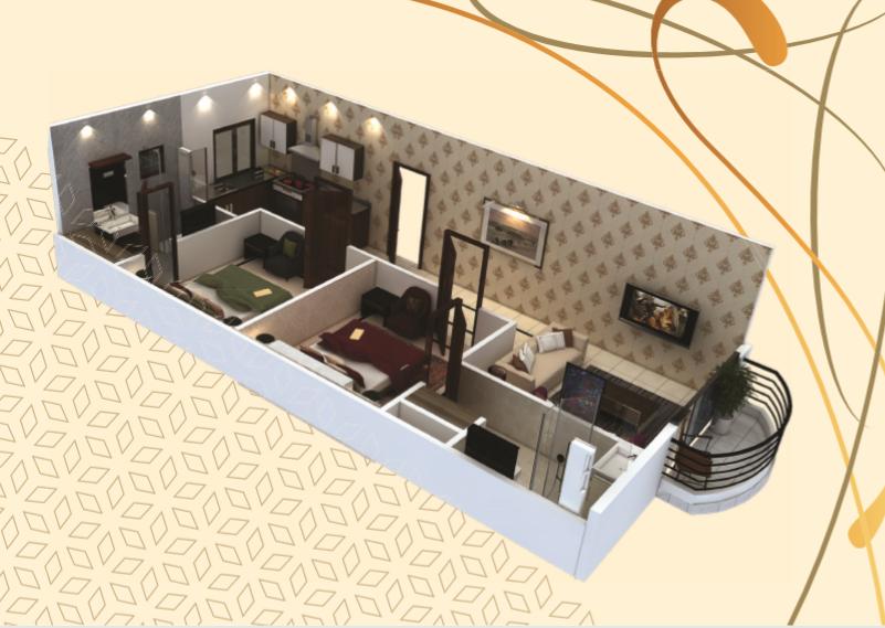 Theme Residency - 2 Bedroom