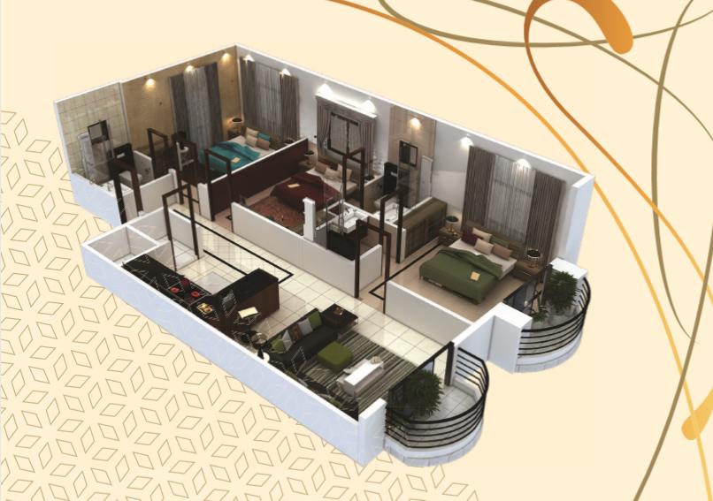 Theme Residency - 3 Bedroom