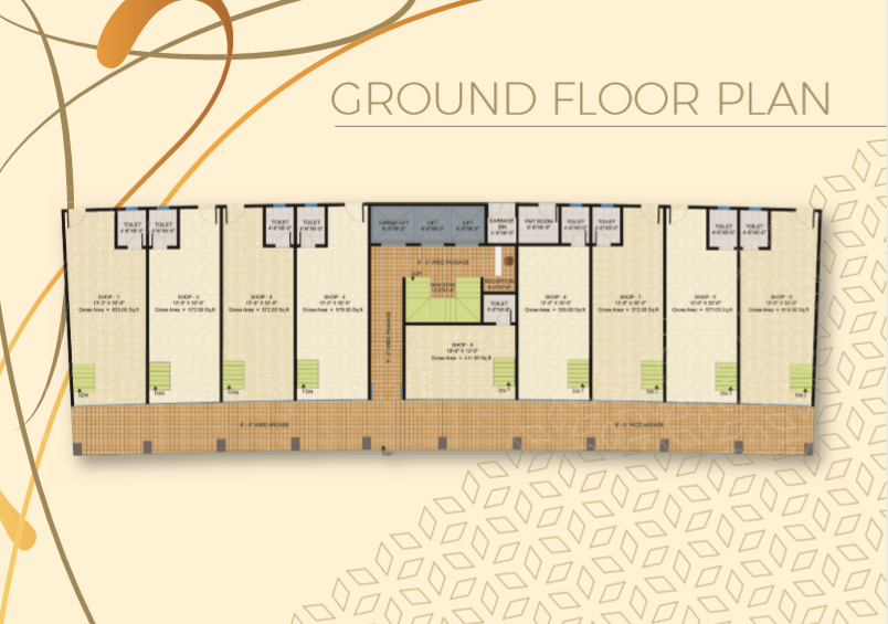 Theme Residency - Ground Floor Plan