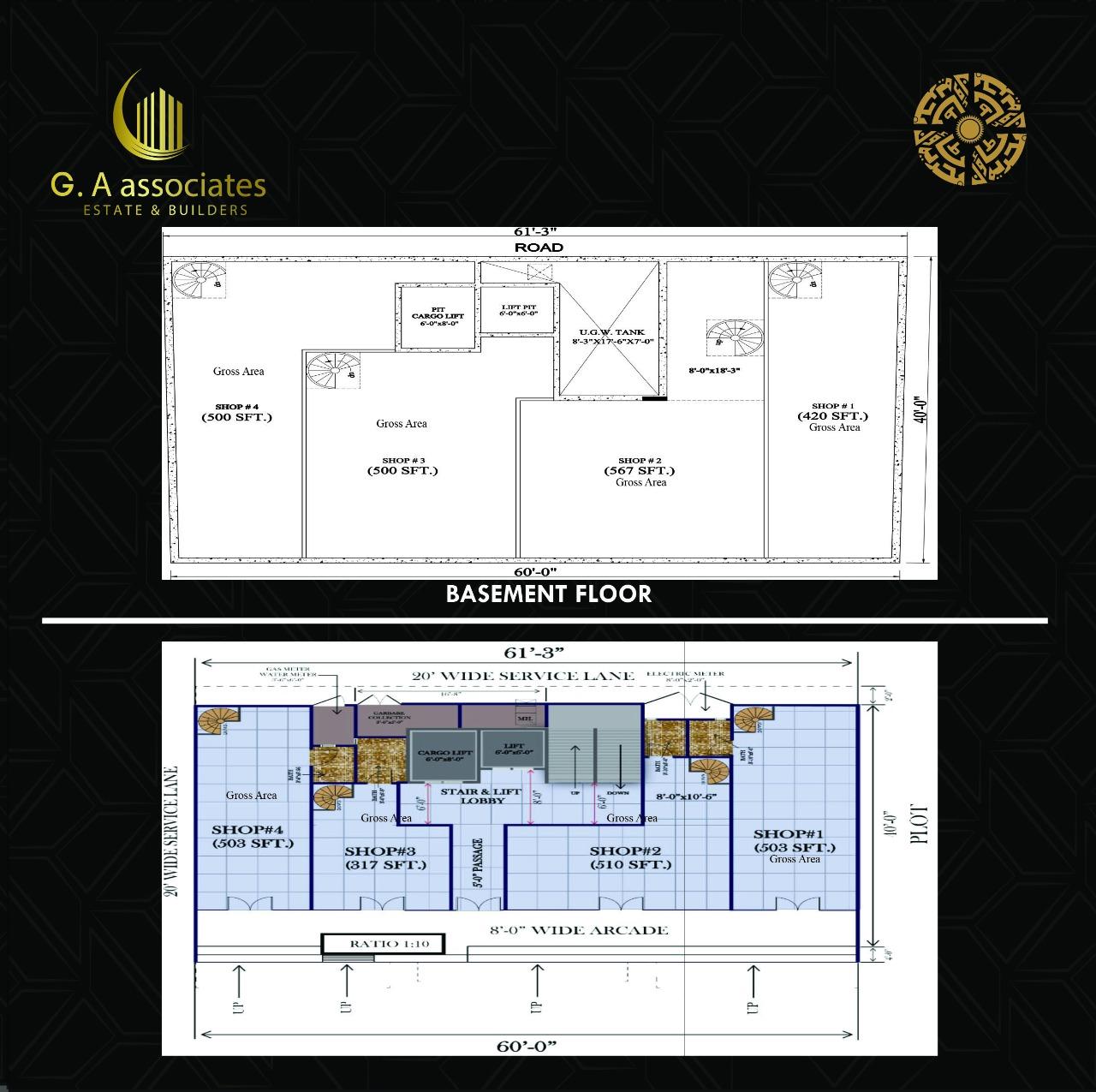 G.A Tower - Plan For Rooms - Bahria Town Karachi