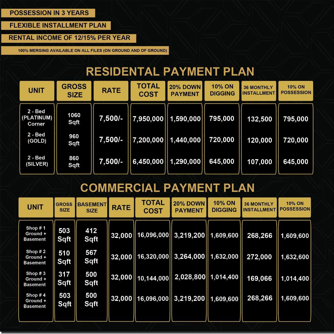 G.A Tower - Booking Plan For Rooms - Bahria Town Karachi
